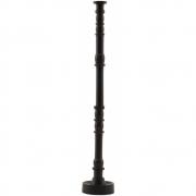 House Doctor - Jersey Kerzenständer H. 36 cm, Dunkelbraun