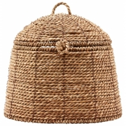 House Doctor - Rama Baskets with lid H. 19 cm, nature
