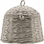 House Doctor - Reve Baskets with lid, grey