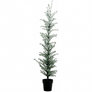 House Doctor - Flocked Árvore de natal A. 160 cm, natureza