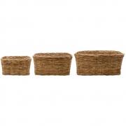 House Doctor - Baskit Cesto natureza conjunto de 3, 36x28 cm, 41x36 cm, 50x42 cm