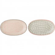 Bloomingville - Cécile Plate Oval Multi-color Stoneware