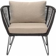Bloomingville - Mundo Lounge Chair Black Metal