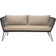 Bloomingville - Mundo Sofa Black Metal