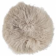 Bloomingville - Cushion 112 Nature Lambskin Mongolian