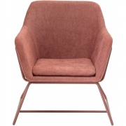 Bloomingville - Bass Lounge Chair Rose Polyester