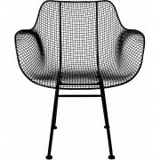Bloomingville - Tide Lounge Chair Black Metal