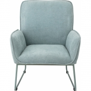 Bloomingville - Lounge Chair Blue Polyester