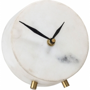 Bloomingville - Clock White Marble