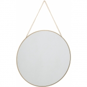 Bloomingville - Mirror 102, Gold, Glass