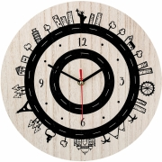 Horloge, Nature, MDF - Bloomingville