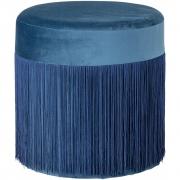 Bloomingville - Grandma Pouf, Blue, Polyester