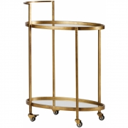 Be Pure Home - Push Serving Trolley Antique Brass