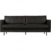 BePureHome - Rodeo Classic Sofa 2,5-Sitzer Schwarz