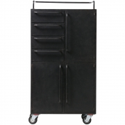 BePureHome - Black Beauty Rollschrank Metall