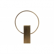 BePureHome - Ring Vase Laiton Métal 20 cm