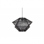 BePureHome - Bamboo Hanging Lamp Black