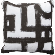 Woood - Maan Cushion 50x50 cm black, white