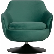 Chaise pivotante Velvet Jada - Woood Teal