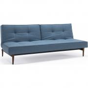 Innovation Living - Splitback Klappsofa Styletto dunkle Holzbeine Blau (525)
