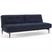 Innovation Living - Ample Klappsofa Styletto dunkle Holzbeine
