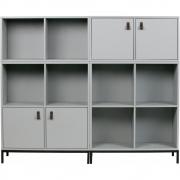 Armoire avec cadre métallique gris béton Lower Case - vtwonen