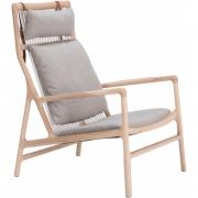 Gazzda - Dedo Lounge Sessel Flachs Archway / Eiche Weiß geölt