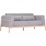 Gazzda - Fawn Sofa 2 seater / Flax Archway / Oiled white okay
