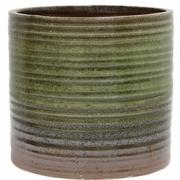 HK Living - Ceramic Flower Pot Green/brown
