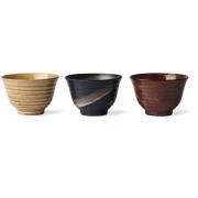 HK Living - Kyoto Ceramics: Japanese Matcha Bowls (set Of 3)