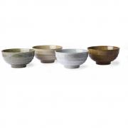 HKliving - Kyoto Ceramics: Japanische Nudel Schalen (Satz 4)