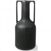 HKliving - Vase en céramique noire avec poignées