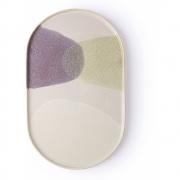 HKliving - Galerie Keramik: Oval Teller Grün / lila