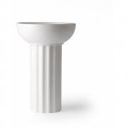 HKliving - Vase en céramique blanche grec A