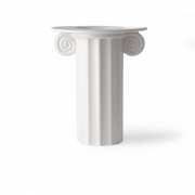 HKliving - Vase en céramique blanche grec B