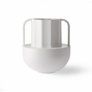 HKliving - Vase en céramique blanche grec D