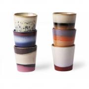 HKliving - Ceramic 70's Tassen 6er Set