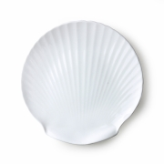 HKliving - Athena Keramik: Bone China Shell Serviertablett