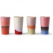 HKliving - Ceramic 70's Latte Tassen Set 4