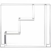 HKliving - Vase en verre Escaliers