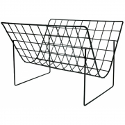 HK Living - Metalldraht Magazin Rack Matt Schwarz