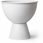 HKliving - Metal Flower Pot On Base Rustic White M
