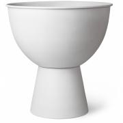 HKliving - Metal Flower Pot On Base Rustic White L