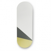 HKliving - Spiegel oval L Gold / grau