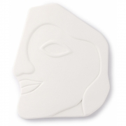 HK Living - Face Wall Ornament L Matt White