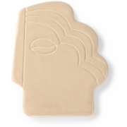 HK Living - Mur visage Ornement S Shiny Taupe