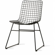 HKliving - Metalldraht Wire Stuhl Schwarz