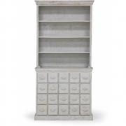 HKliving - Schubladenschrank Antik Look Grau