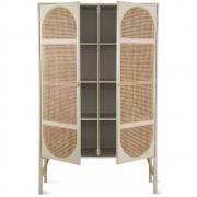HKliving - Retro Webbing Cabinet Light Grey With Shelves