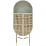 HKliving - Retro Oval Cabinet Grey, Green